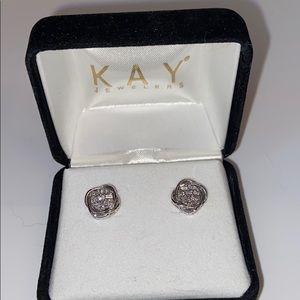 100% real diamond earrings